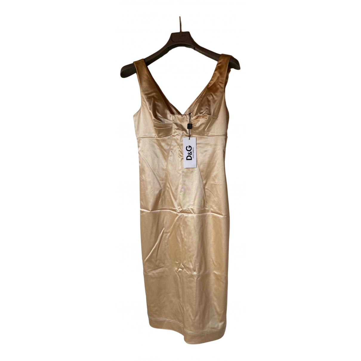 D&g \N Kleid in  Beige Synthetik