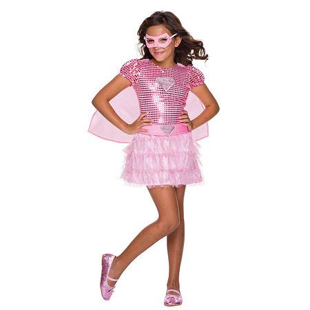 Kids Pink Supergirl Tutu Dress, Small , Multiple Colors