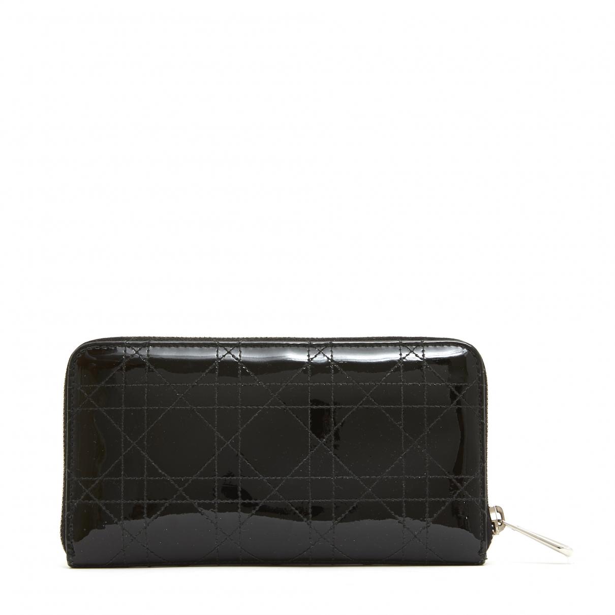 Christian Dior \N Portemonnaie in  Schwarz Lackleder