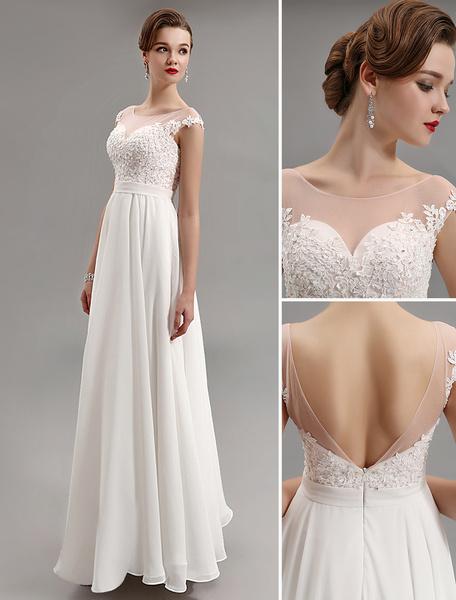 Milanoo Vestido de noche con escote estilo marinero y manga corta  Vestidos de boda para huespedes