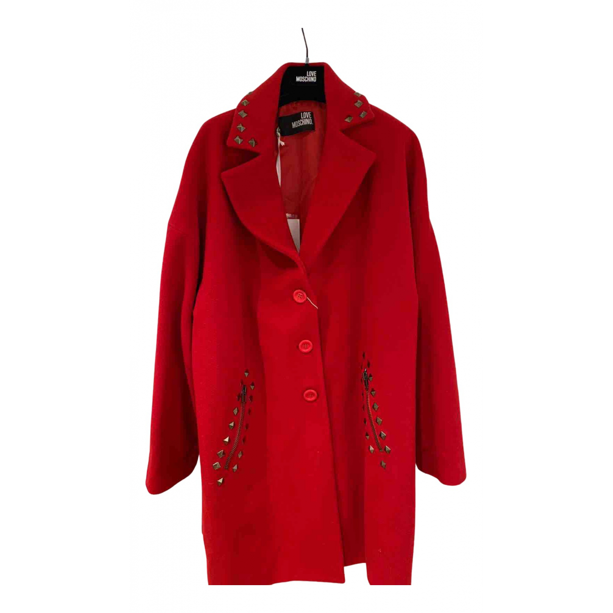 Moschino Love \N Maentel in  Rot Wolle