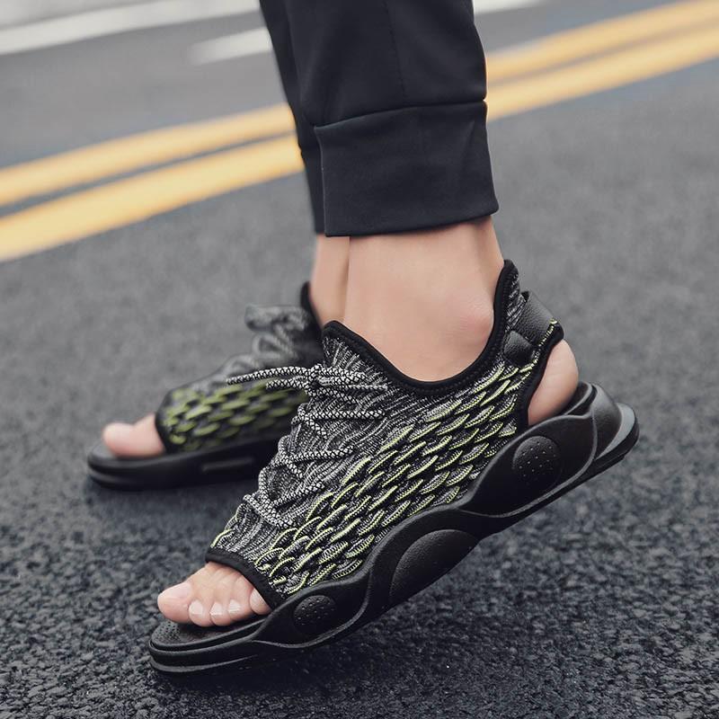 Ericdress Color Block Low-Cut Upper Lace-Up Men's Sandals