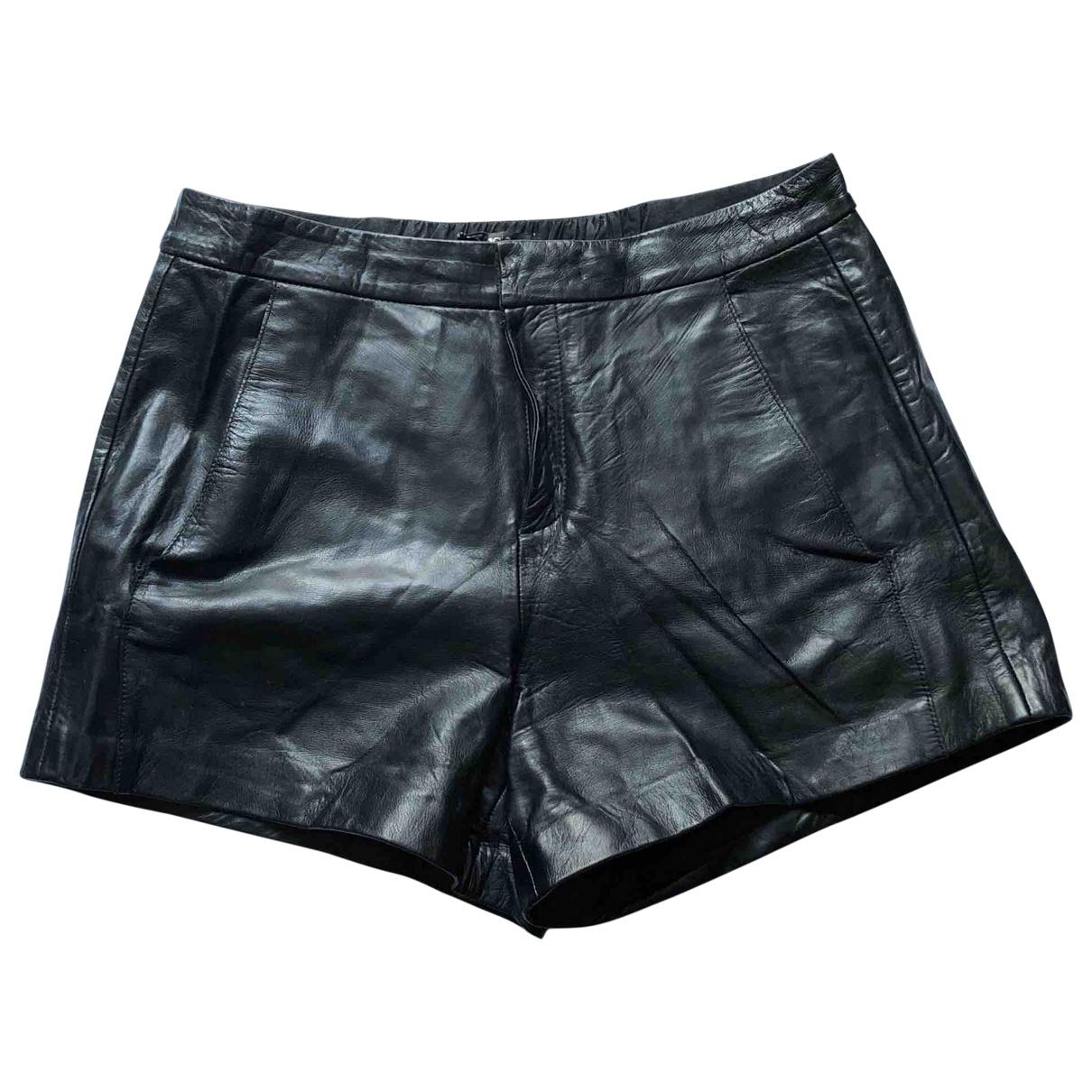 Maje \N Shorts in  Schwarz Leder