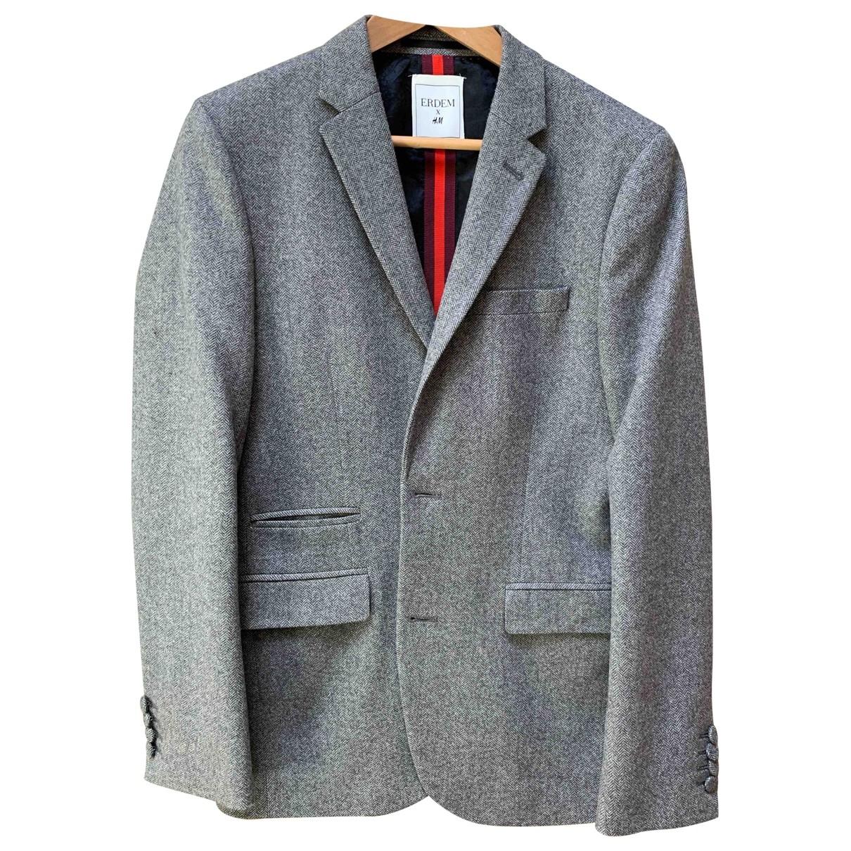 Erdem X H&m - Vestes.Blousons   pour homme en laine - gris