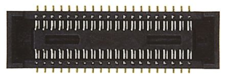 Hirose , DF40 0.4mm Pitch 40 Way 2 Row Straight PCB Socket, Surface Mount, Solder Termination (2000)
