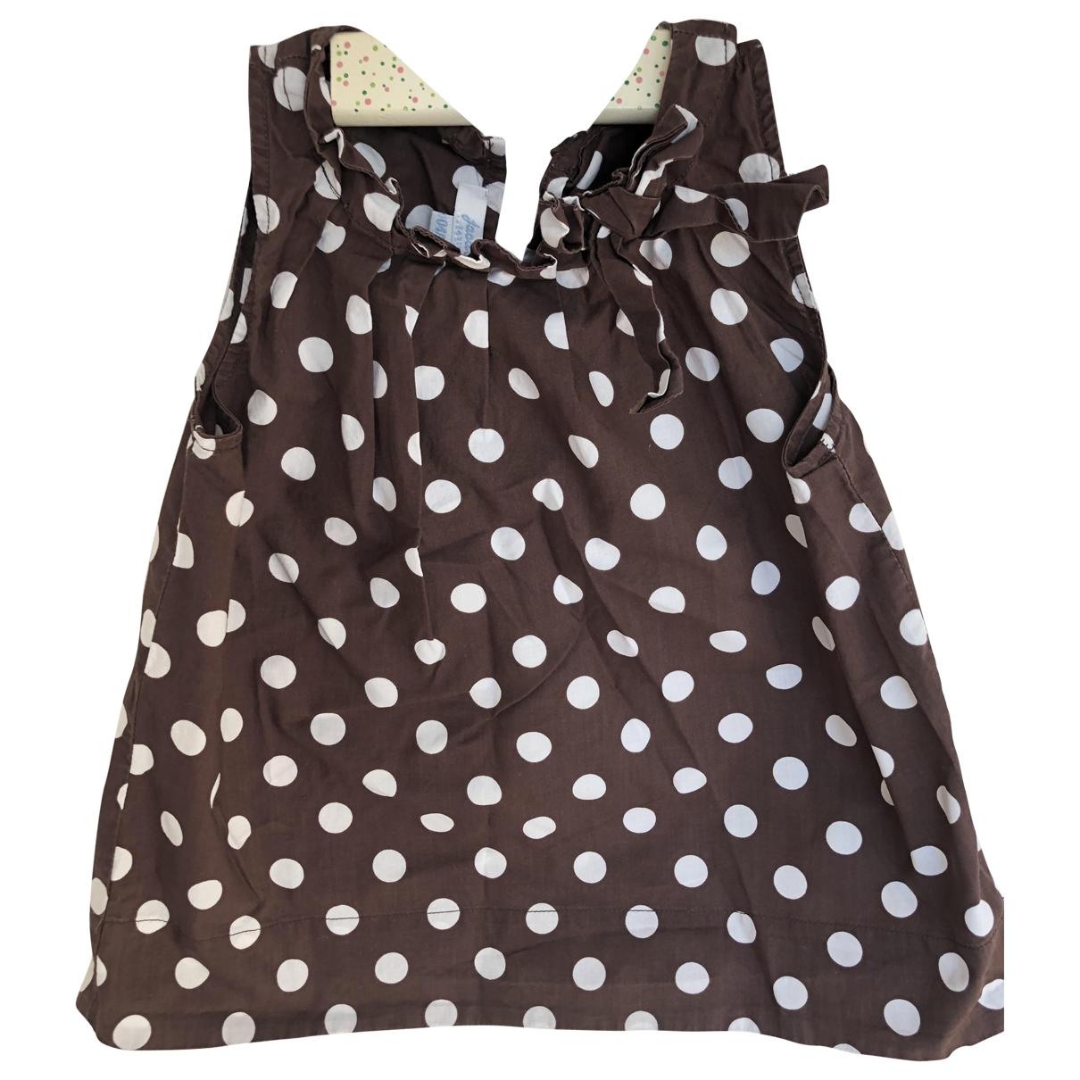 Jacadi - Top   pour enfant en coton - marron