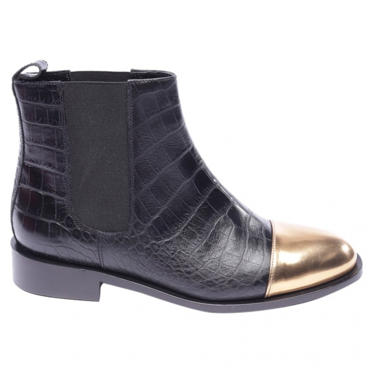 Marni \N Black Leather Ankle boots for Women 38.5 EU