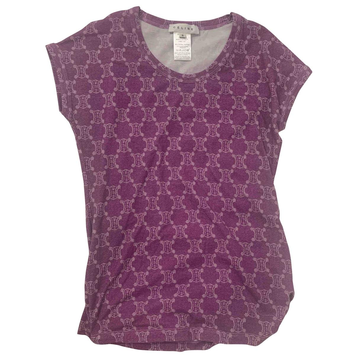 Celine \N Purple Cotton  top for Women 8 UK