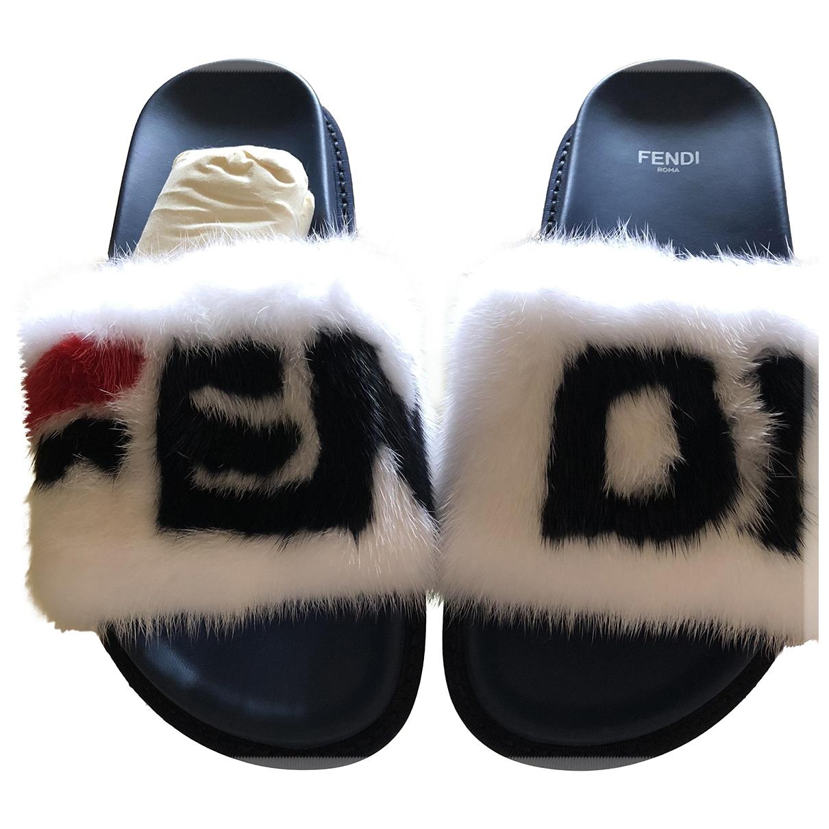 Fendi X Fila - Sandales   pour femme en vison - blanc