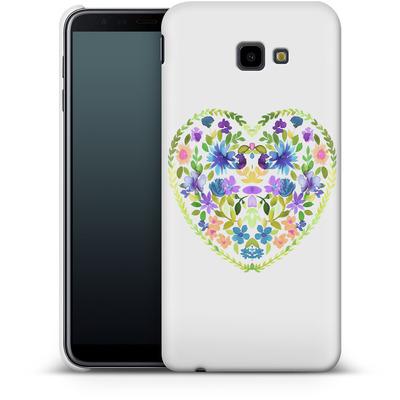 Samsung Galaxy J4 Plus Smartphone Huelle - Love Folk Olive Green von Amy Sia
