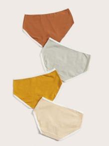 4pack Lace Trim Panty Set