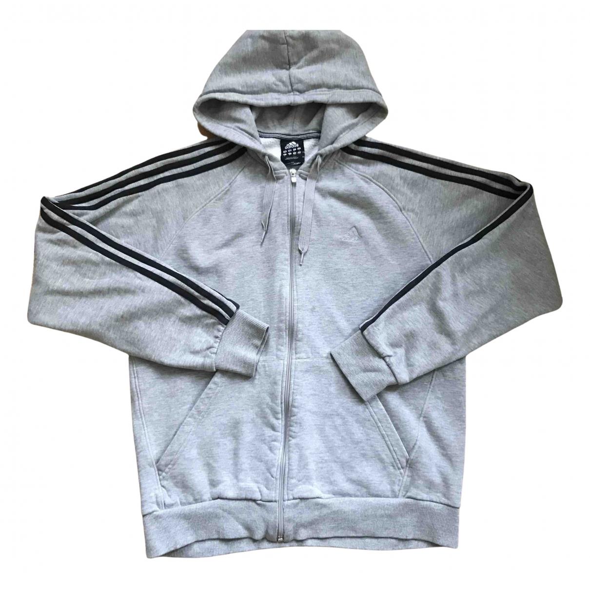 Adidas - Pulls.Gilets.Sweats   pour homme en coton - gris