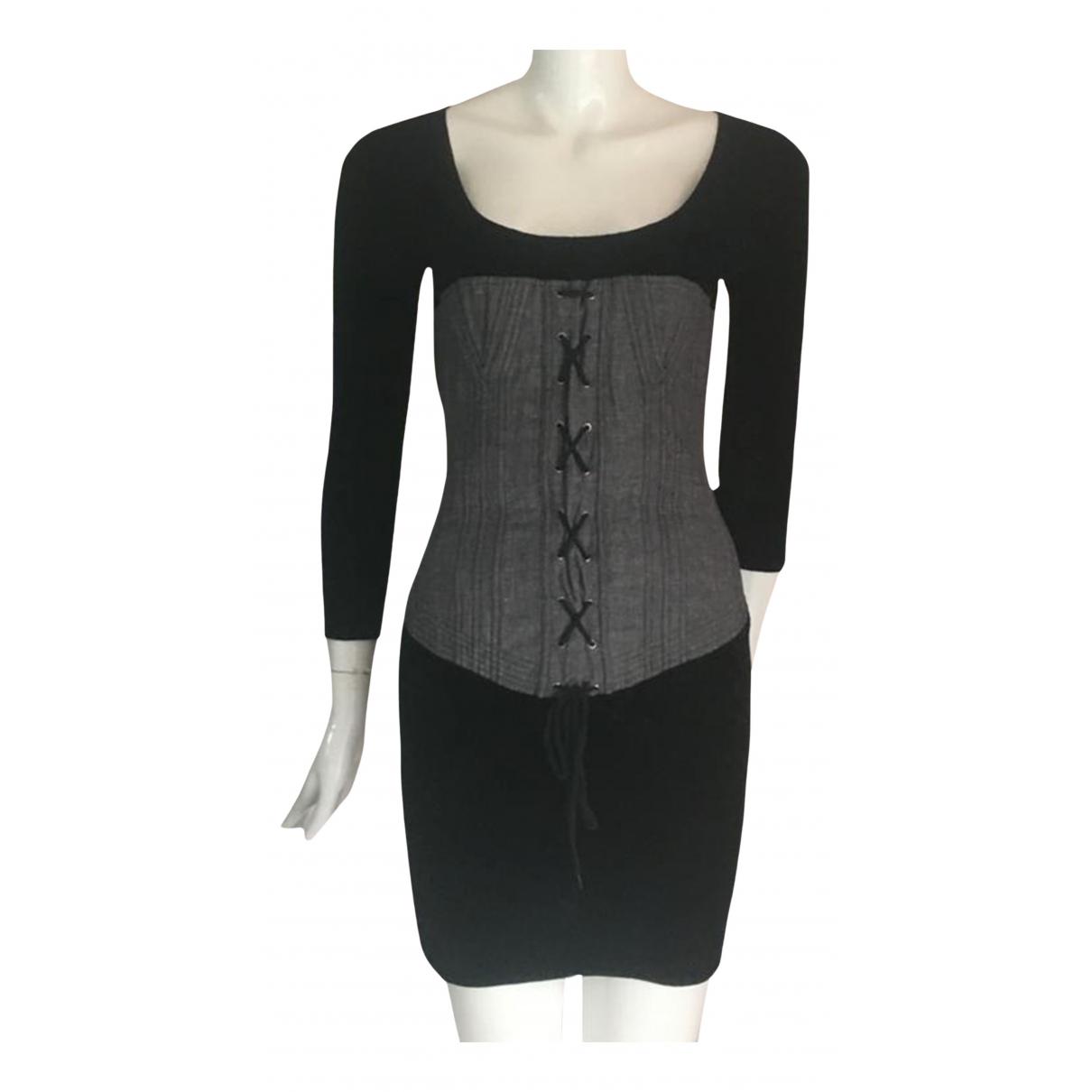 Chantal Thomass \N Kleid in  Schwarz Samt