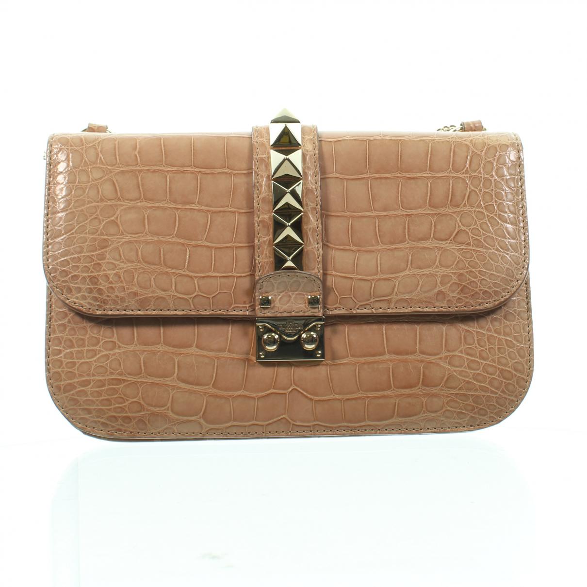 Valentino Garavani \N Beige Exotic leathers handbag for Women \N