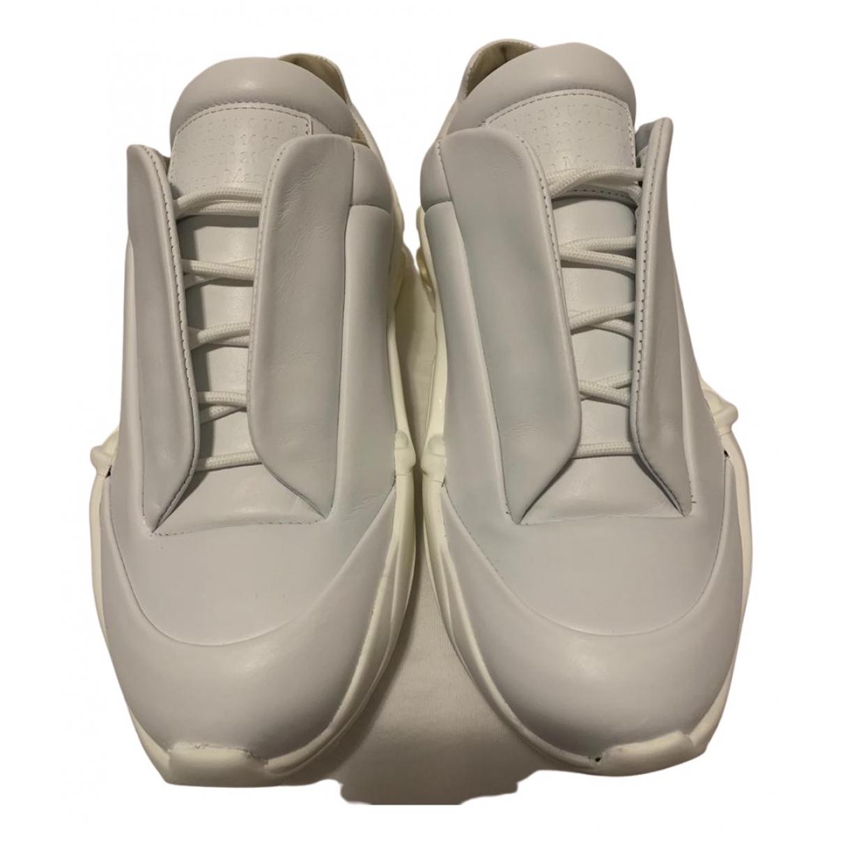 Maison Martin Margiela Future White Leather Trainers for Men 42 EU