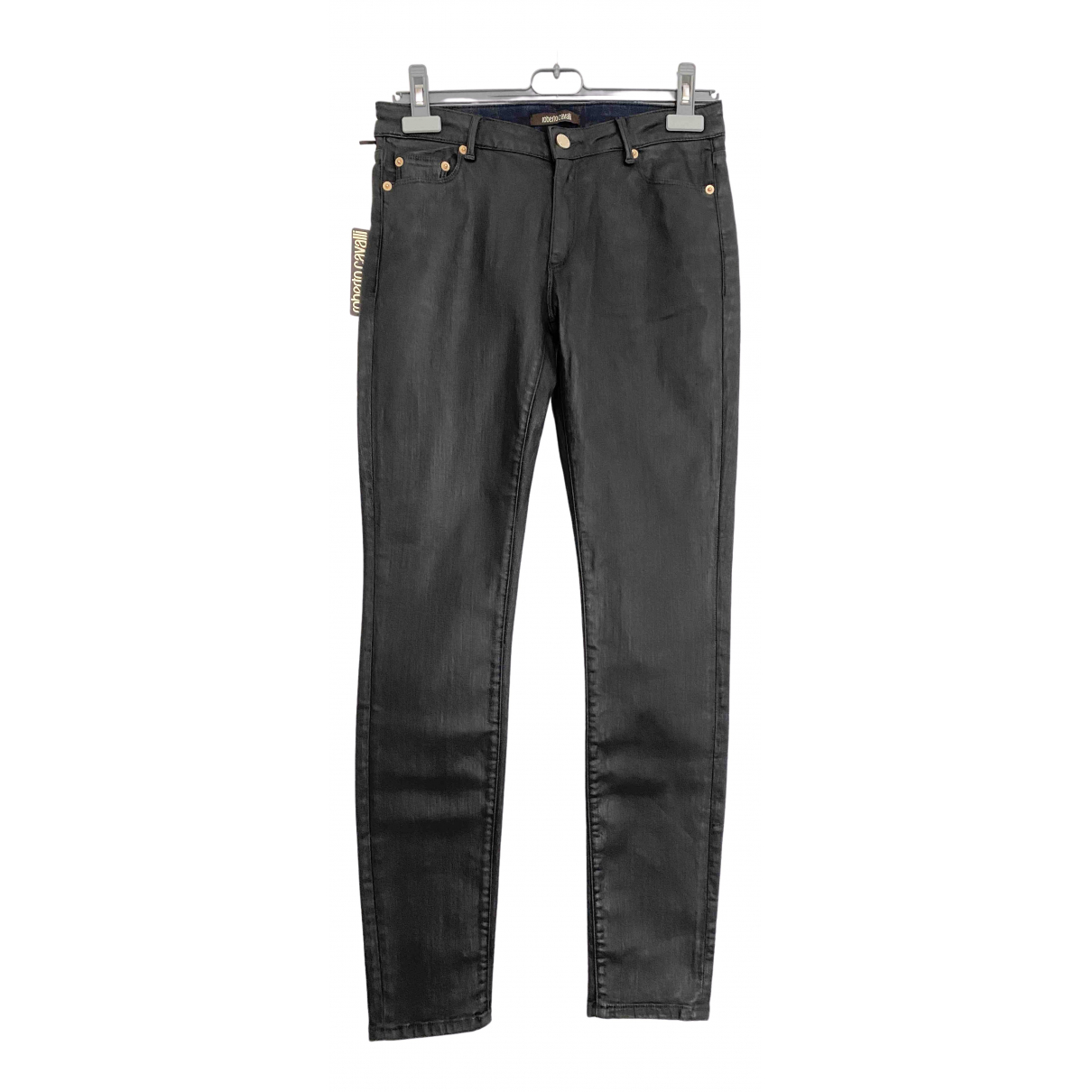 Roberto Cavalli \N Black Cotton Jeans for Women 38 FR