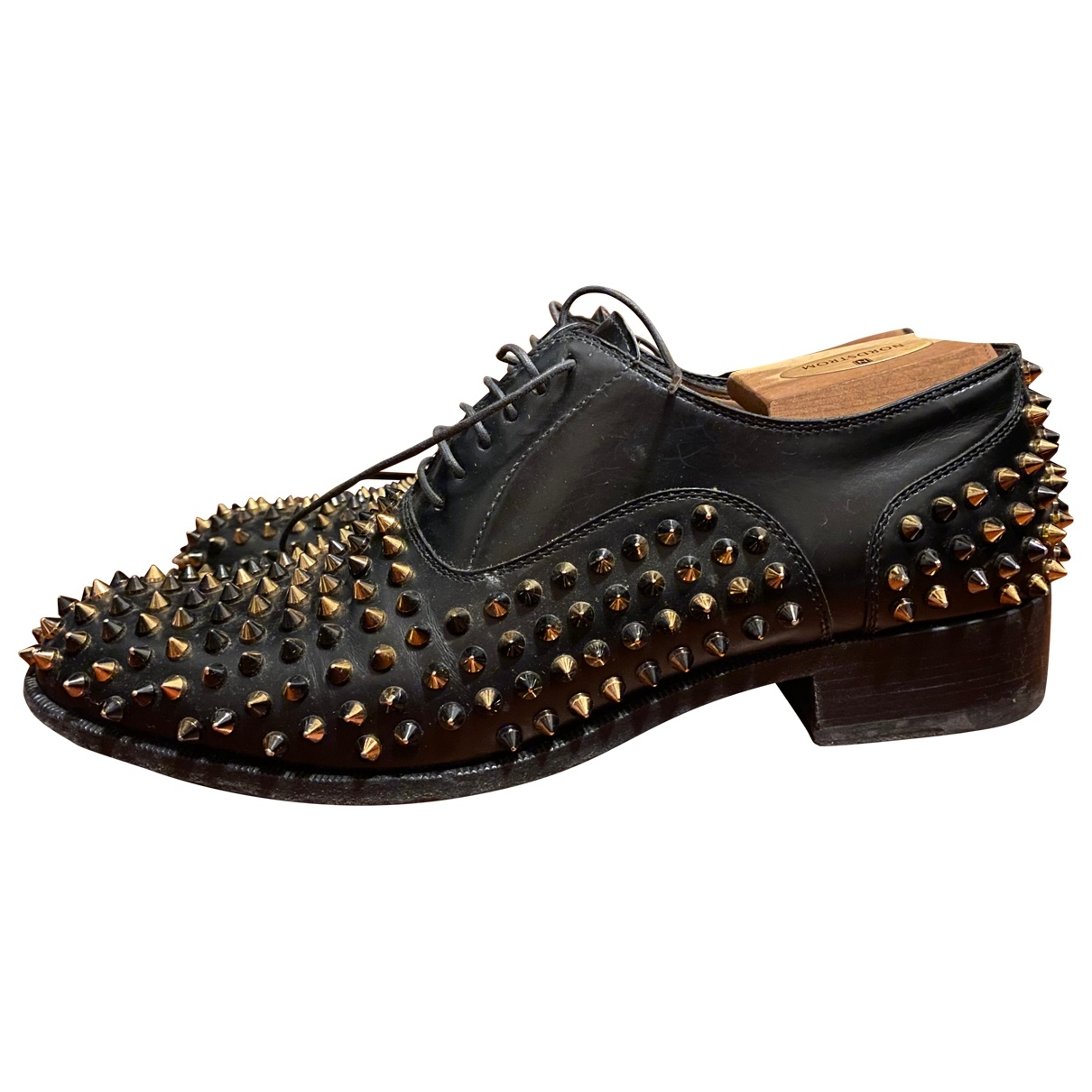 Christian Louboutin \N Black Leather Lace ups for Men 42 EU