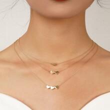 3 Stuecke Halskette mit Herzen Anhaenger