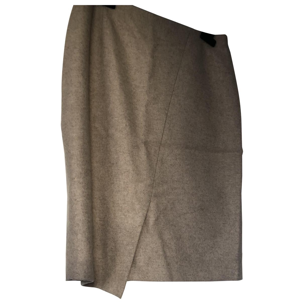 Paule Ka \N Beige Wool skirt for Women 38 FR