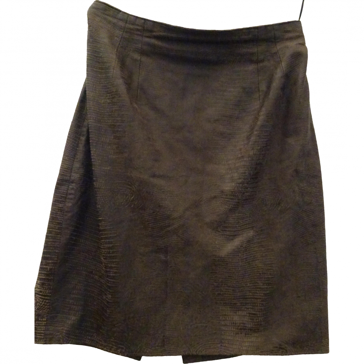 Caché \N Brown Leather skirt for Women 12 US