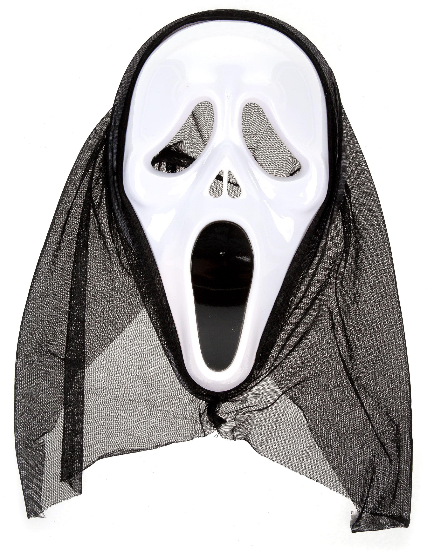 Kostuemzubehor Maske Schrei Farbe: schwarz/weiss
