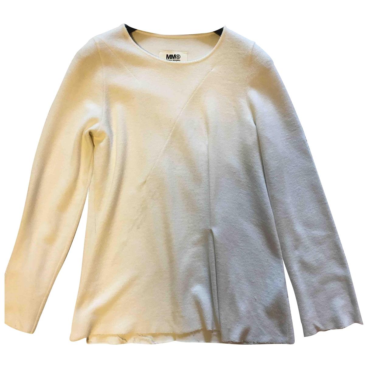 Mm6 - Top   pour femme en coton - beige