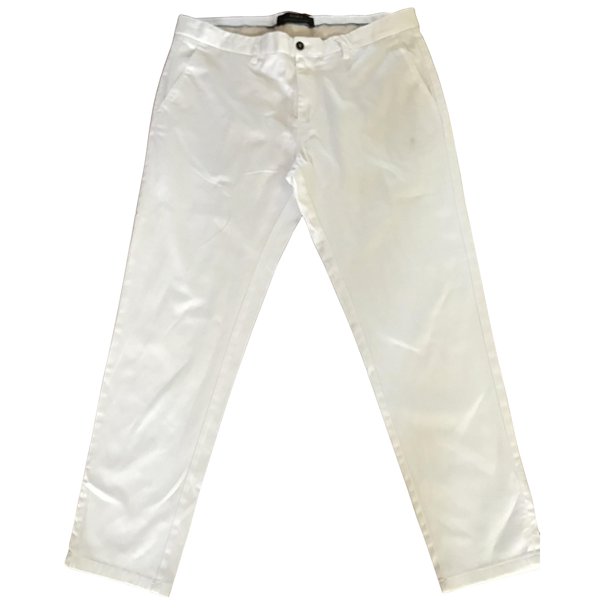 Pantalones en Algodon Crudo Zara