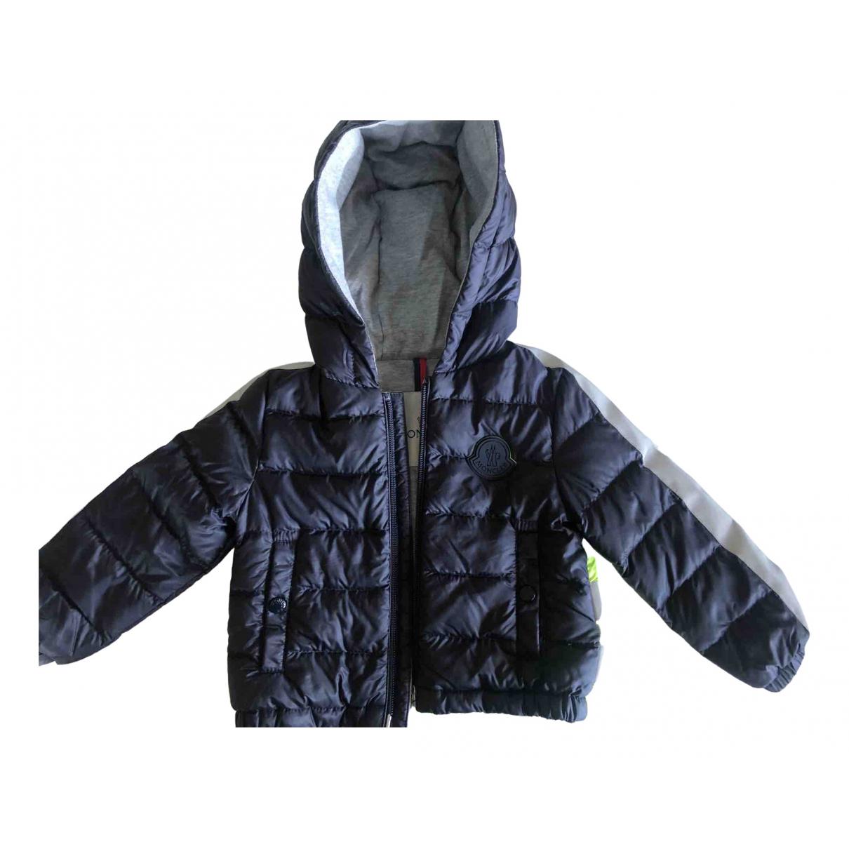 Moncler - Blousons.Manteaux   pour enfant en coton - bleu