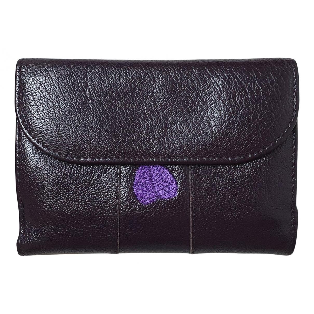 - Portefeuille   pour femme en cuir - violet