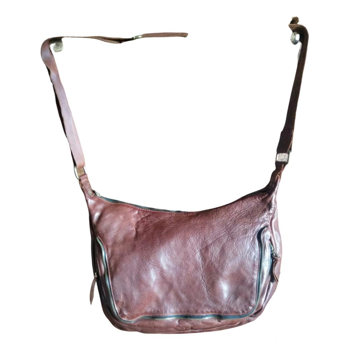 Non Signe / Unsigned Hippie Chic Handtasche in  Braun Leder