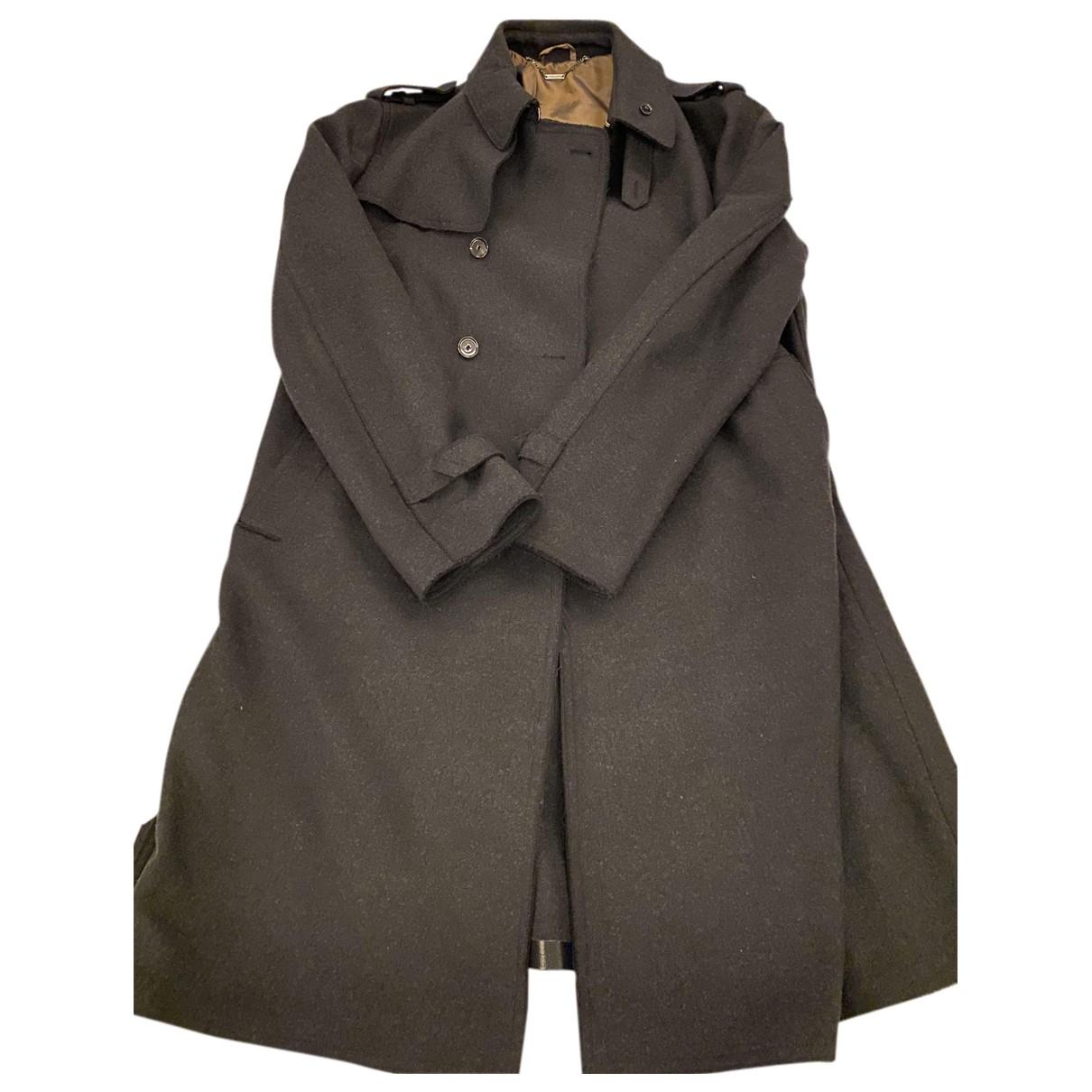 Costume National - Manteau   pour homme en laine - anthracite