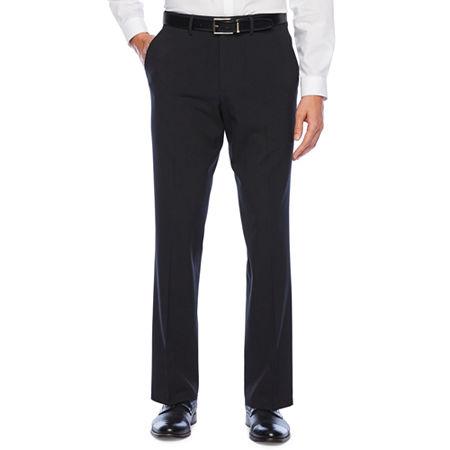 JF J.Ferrar 360 Stretch Slim Fit Flat Front Pant, 34 34, Black