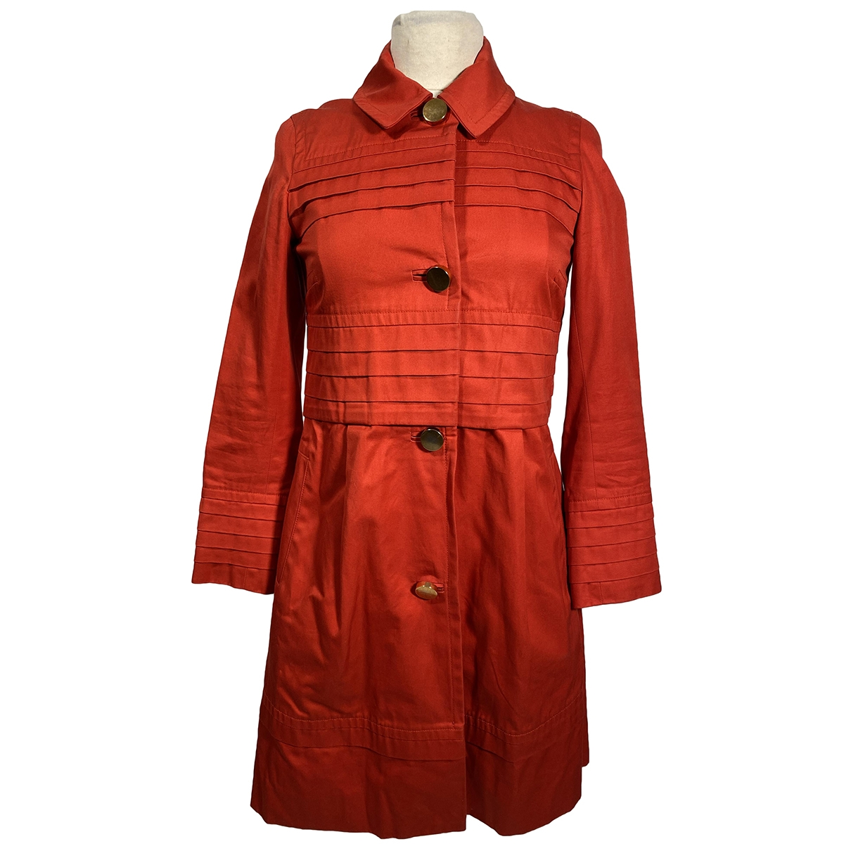 Marc By Marc Jacobs \N Red Cotton coat for Women 34 FR