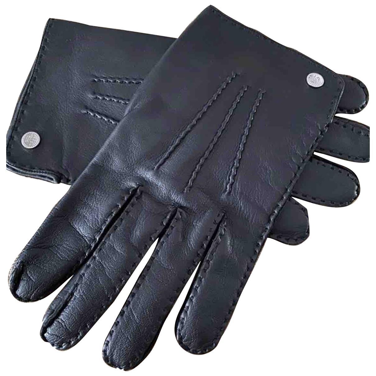Lancel \N Black Leather Gloves for Men M International