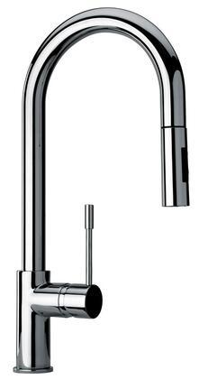 25592-72 Single Hole Kitchen Faucet with Goose Neck Spout  Designer Polished Brass