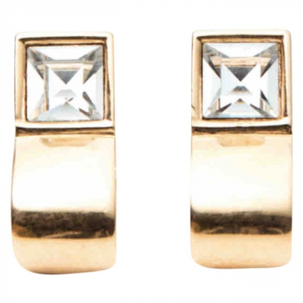 Givenchy \N OhrRing in  Weiss Metall