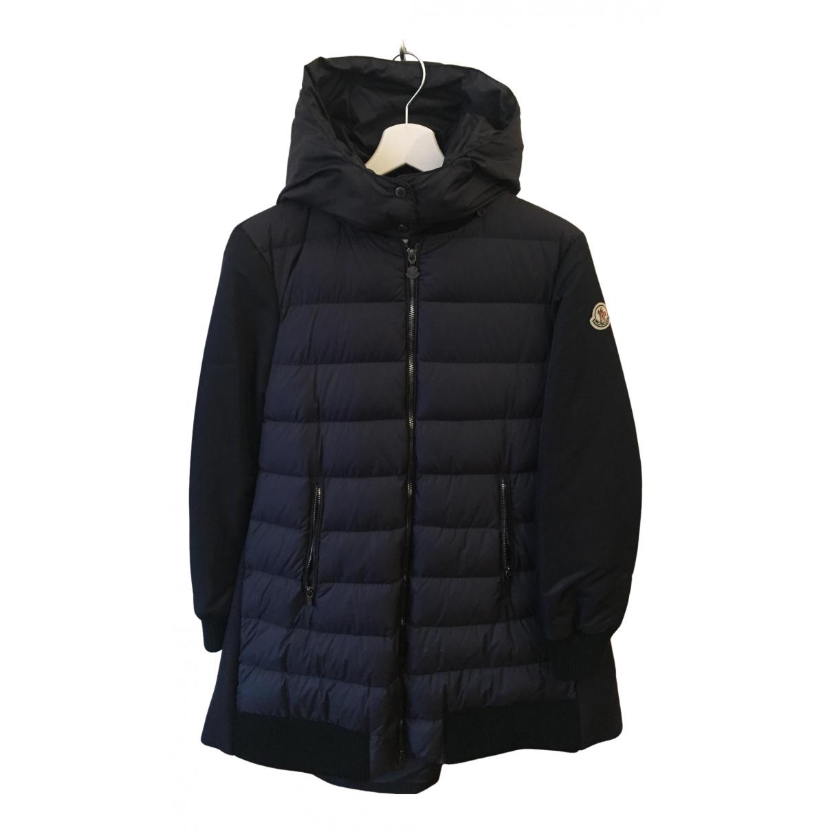 Moncler - Manteau   pour femme en laine - bleu