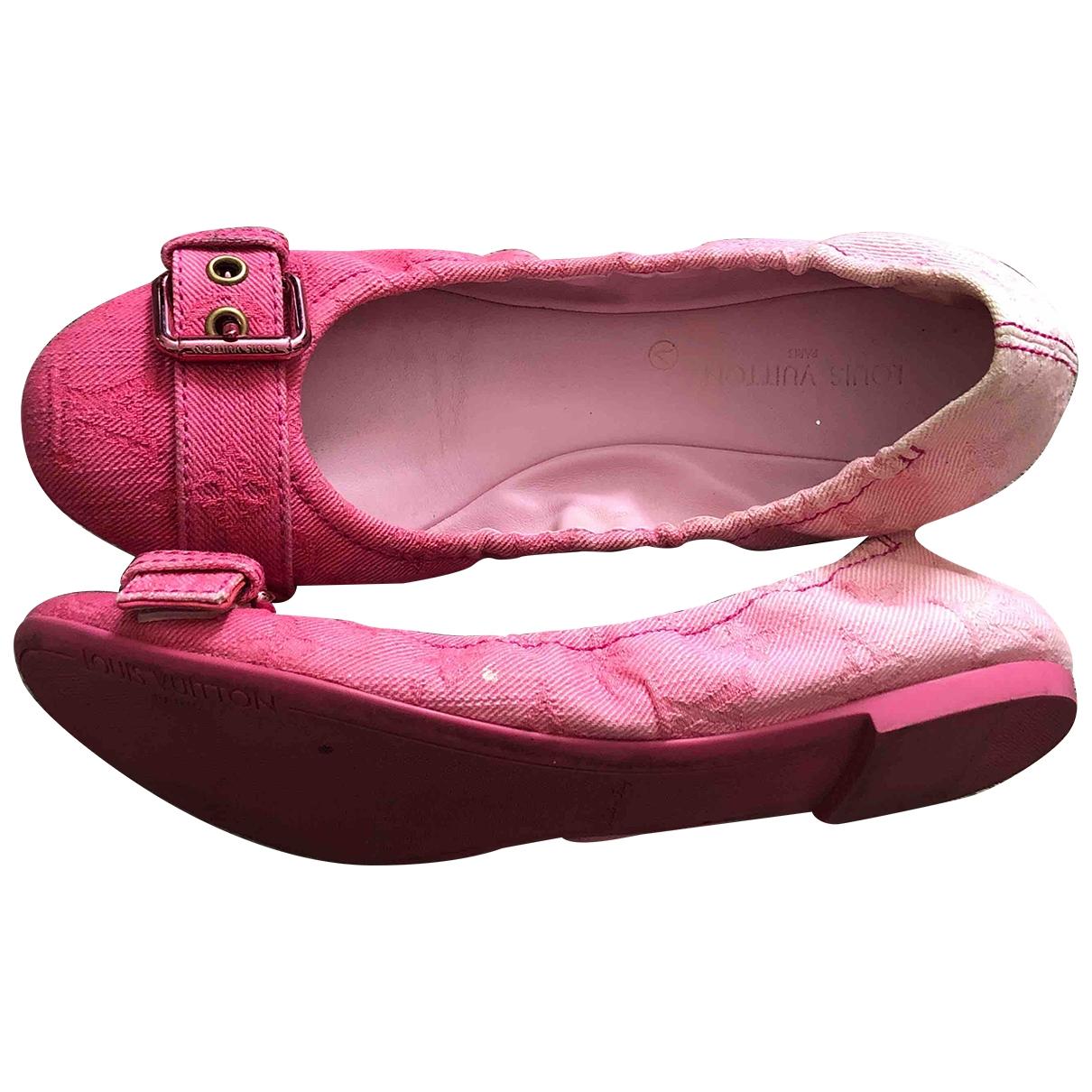 Louis Vuitton - Ballerines   pour femme en toile - rose
