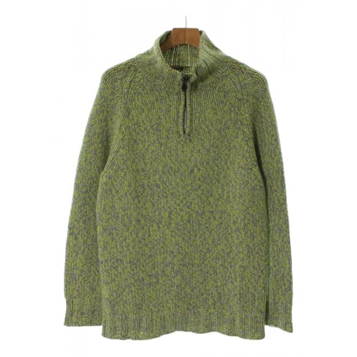 Hermes \N Pullover.Westen.Sweatshirts  in  Gruen Kaschmir