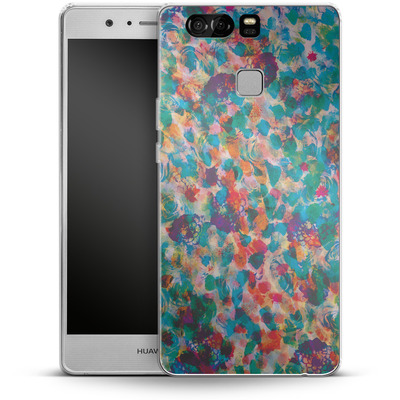 Huawei P9 Silikon Handyhuelle - Floral Texture von Amy Sia