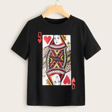 Plus Playing Card Print Tee