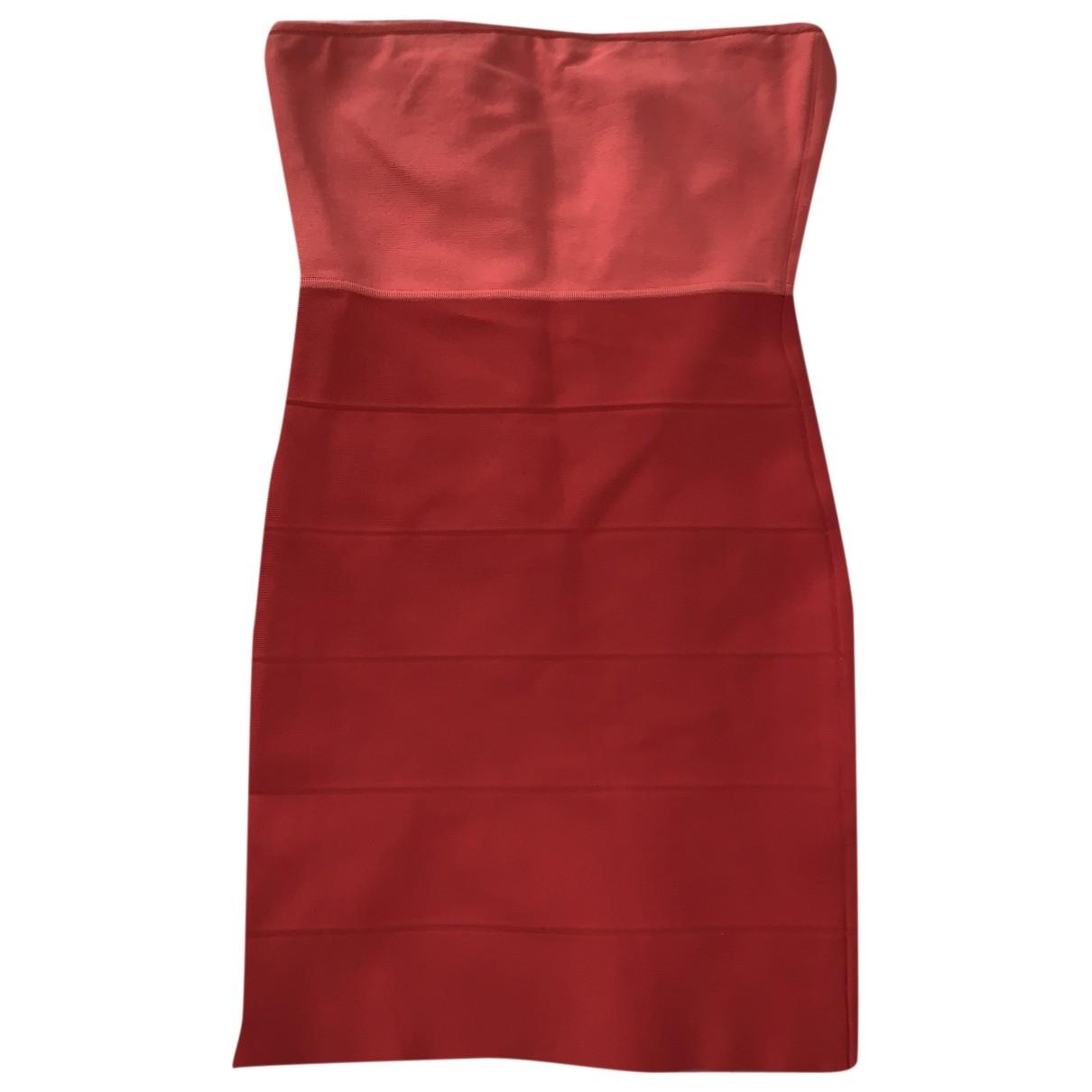 Bcbg Max Azria \N Kleid in  Orange Synthetik