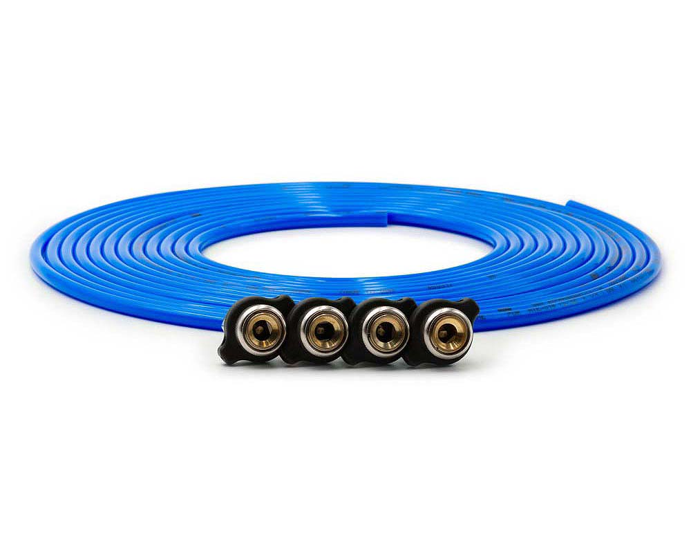 Up Down Air 340-4100-BLU Tire Inflator Hose Replacement 240 Inch W/4 Quick Release Chucks Blue