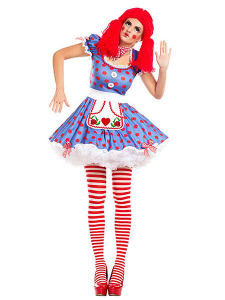 Milanoo Carnival Clown Costume Lilac Dress With Choker For Women