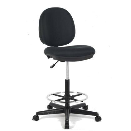 Chaise a dessin en tissu a motifs, noir - Moustache@
