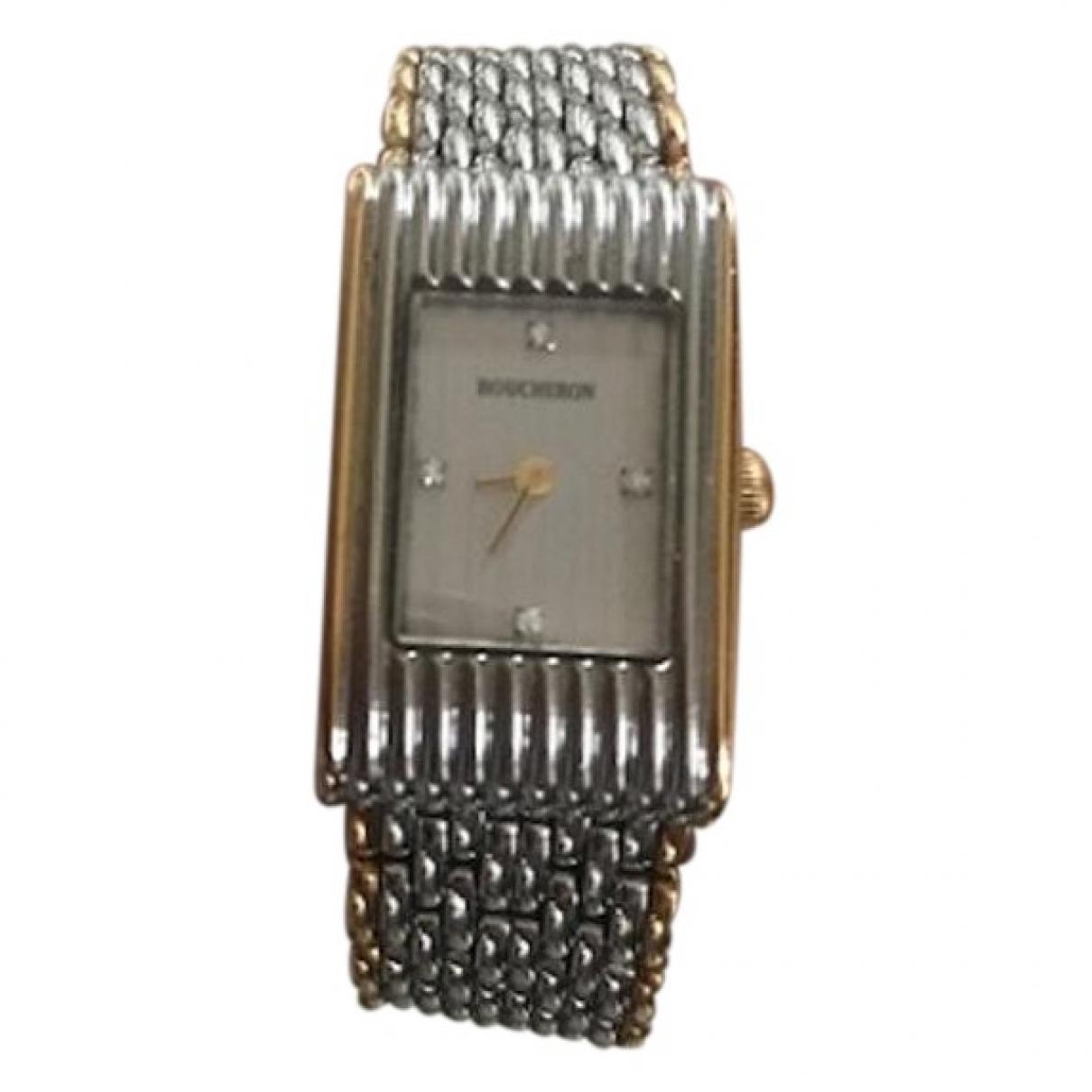 Boucheron Reflet Uhr in  Silber Gold und Stahl