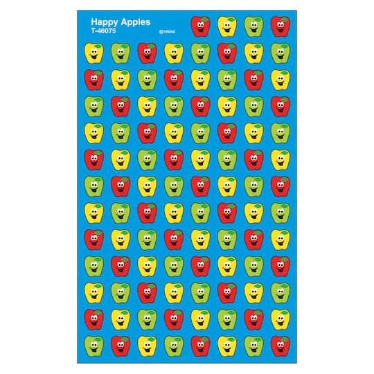Trend Enterprises® Happy Apples Supershapes Stickers, 12 Packs Of 800 | Michaels®