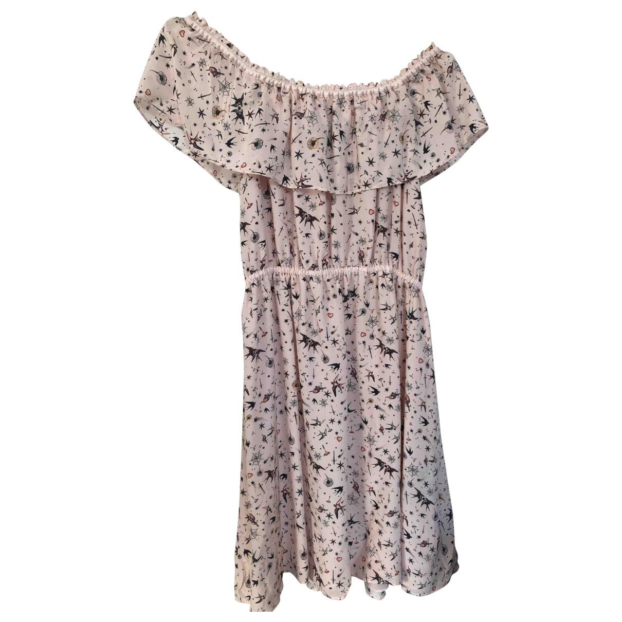 The Kooples \N Kleid in  Rosa Seide