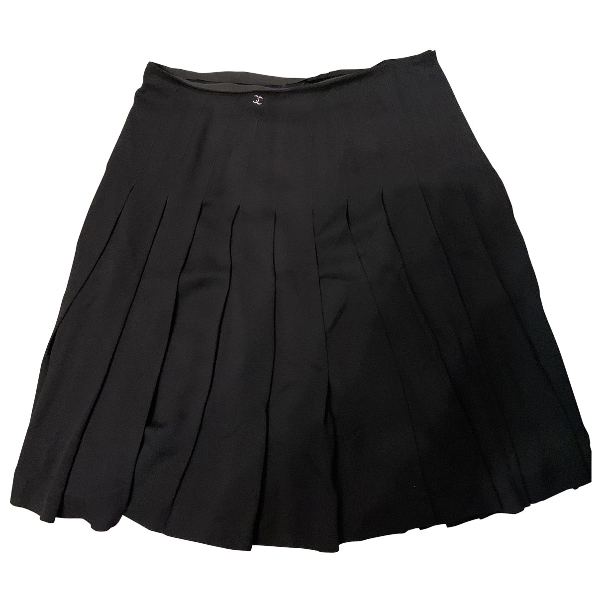 Chanel - Jupe   pour femme en soie - noir