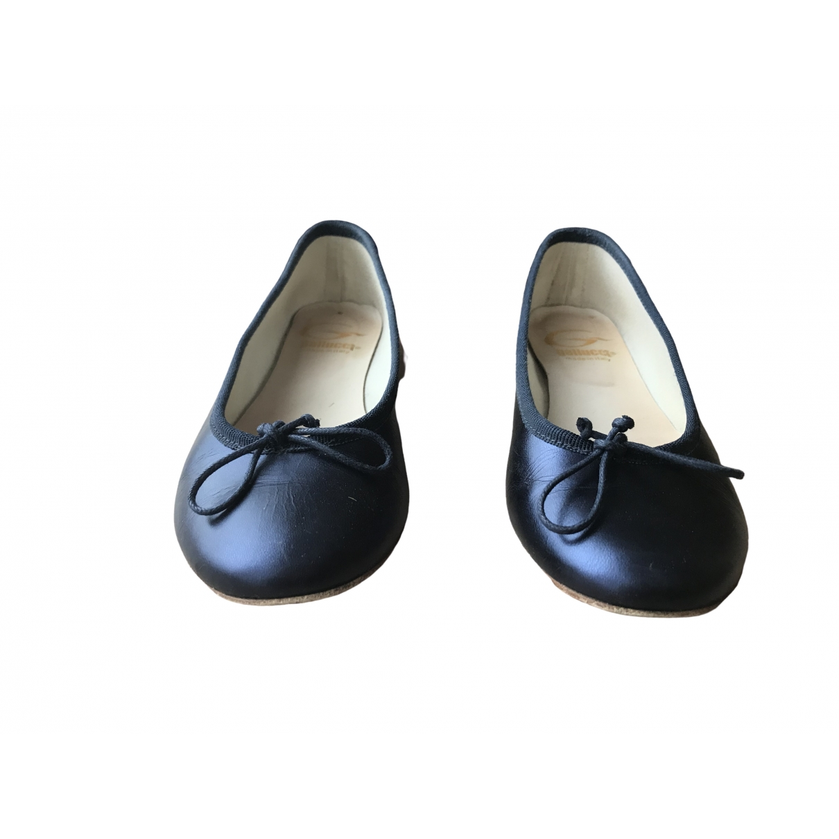Gallucci \N Navy Leather Ballet flats for Kids 36 EU